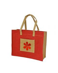 Grehom Hessian Gift Bag - Red Flower