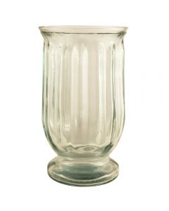 Grehom Recycled Glass Hurricane Lamp (25 cm) - Fluted