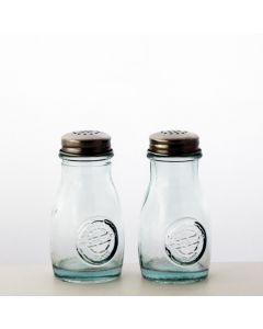 Grehom Recycled Glass Salt & Pepper Pots - Authentic (Set of 2)