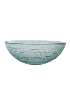 Grehom Recycled Glass Bowl Large- Ripple
