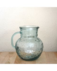 Grehom Recycled Glass Jug- Flowers