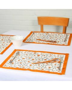 Grehom Placemats (Set of 2) - Bell Flower; Cotton Tablemats
