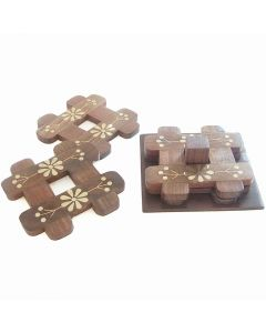 Grehom Table Coasters - Knots & Crosses (Set of 4 coasters)