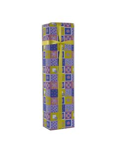 Grehom Gift Wrapping Paper - Blue & Yellow Squares (Set of 2)