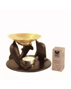 Grehom Oil Burner - Black Dolphins