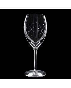 Grehom Crystal Wine Glass Small - Waves