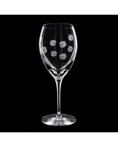 Grehom Crystal Wine Glass Small - Maple Leaf