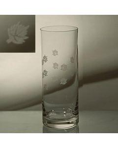 Grehom Crystal Hi Ball Glass - Maple Leaf