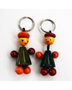 Grehom Wooden Key Ring - Puppets
