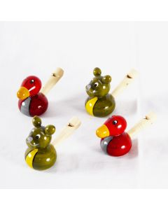 Grehom Wooden Whistle - Set of 4