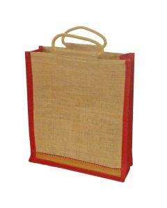 Grehom Hessian Bag Large - Red Zari
