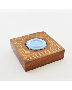 Grehom Tea Light Holder - Vector with Brass Inlay