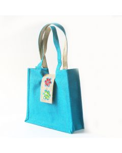 Grehom Hessian Bag - Turquoise