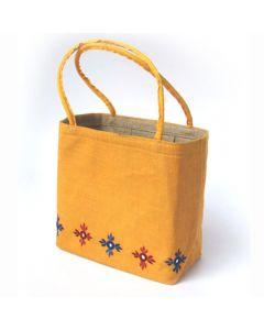 Grehom Hessian Bag - Yellow Mirror