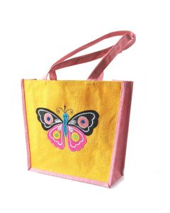 Grehom Hessian Bag - Butterfly