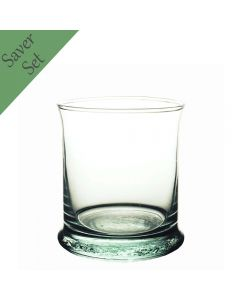 Grehom Recycled Glass Tumbler (350 ml)- Nice & Simple (Set of 6)