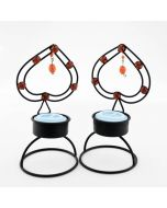 Grehom Tea Light Holder (Set of 2) - Black Spades