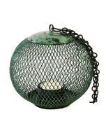 Grehom Tea Light Holder - Cage (Algae Green); Indoor Metal Lantern